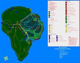 Isla Nublar--Jurassic Park Minecraft