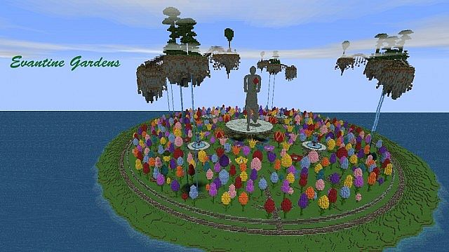 Evantine gardens minecraft project for Garden designs minecraft