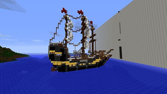 how to make a wooden ship in minecraft