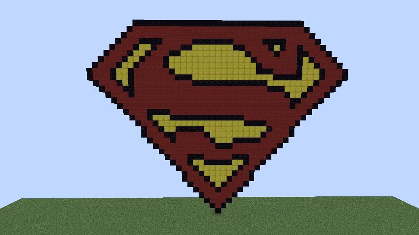 Pixel Art Superman Logo