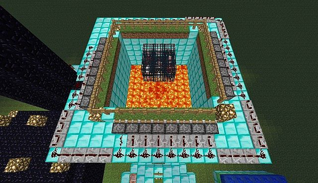 View of the pig, cow, mooshroom, and sheep farm (with redstone)
