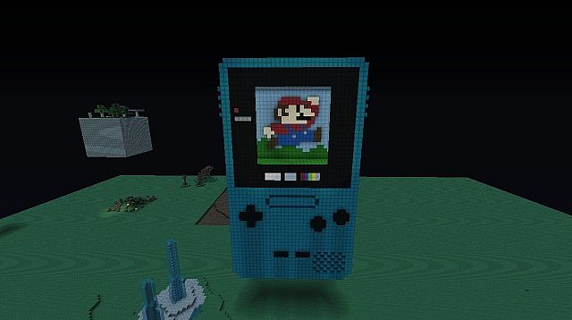 Nintendo© Game boy Colour 3D Model Minecraft Project
