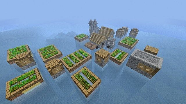 Ocean Villages. Proof that mod works. [Using OCD-Pack by Disco]