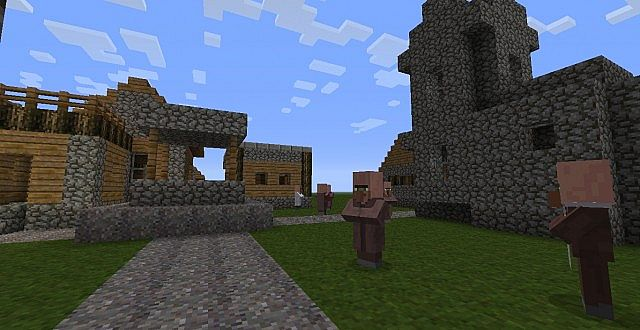 This Is A Village With The Texture Pack On.