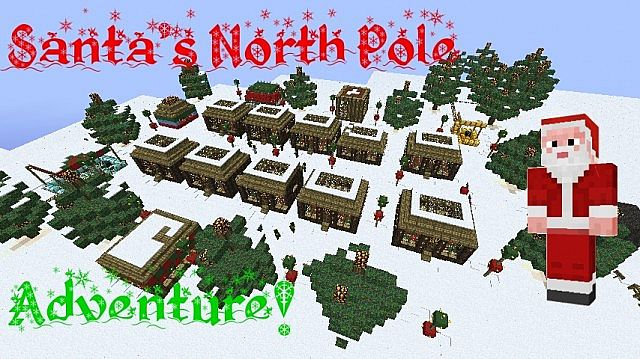 Santa s north pole adventure map minecraft project