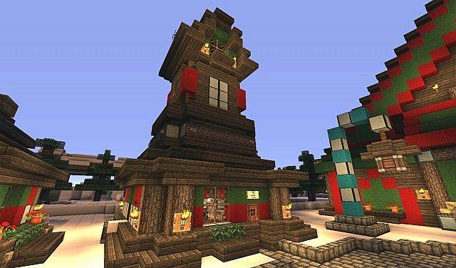 The North Pole - Santas Secret Village - Minecraft Project
