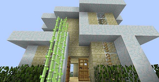 Minecraft sandstone house design modern sandstone home