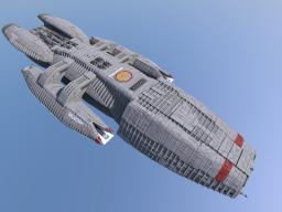 Battlestar Galactica - Life-sized! - 5 million blocks! Minecraft Project