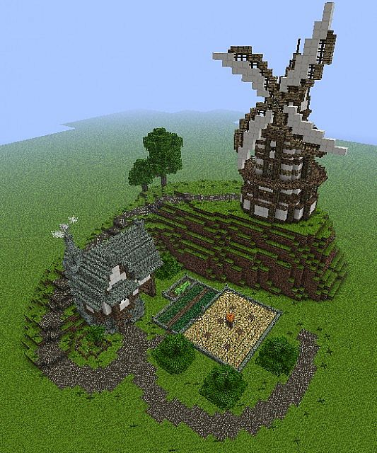 Pics Photos - W... Minecraft Windmill Farm