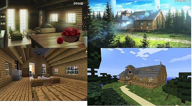 Tree House in sword art online Minecraft Map