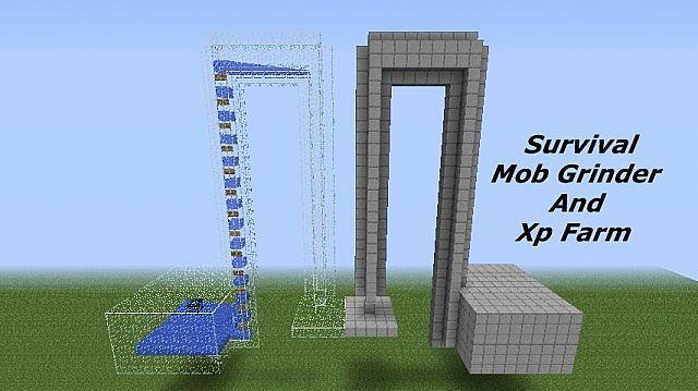 Survival Mob Grinder Xp Farm Minecraft Project