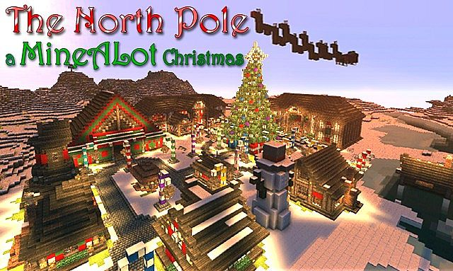 Minecraft Christmas Houses.The North Pole Santas Secret Village Minecraft Project