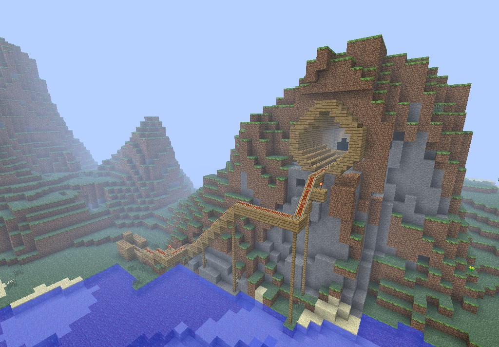 Planet minecraft mountain house 4279937 1024 712 for Building a house in the mountains