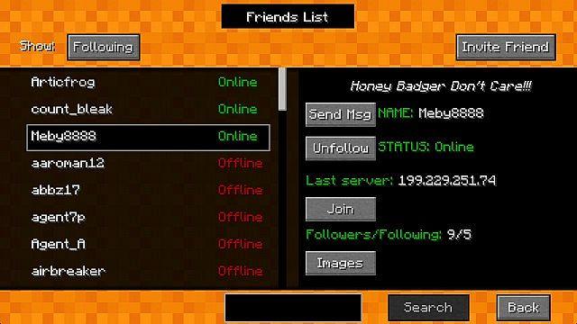 mod Client - Friends View