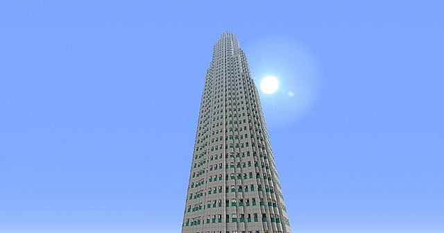 U S Bank Tower Library Tower Los Angeles Minecraft Project