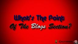 What's The Point of the Blogs Section? Minecraft Blog