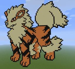 Arcanine Pixel Art Minecraft Map & Project