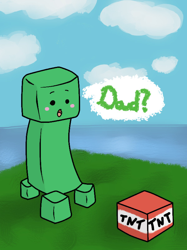 Baby Creeper Minecraft Project