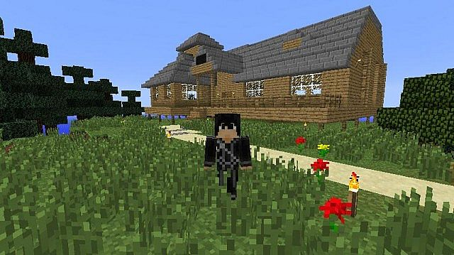 Tree house in sword art online minecraft project for House project online