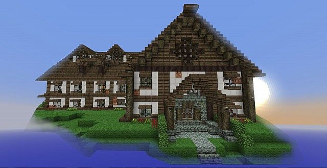 """This mansion has a redstone transforming room in the main """"Party hall"""""""