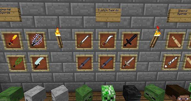 Скачать More Swords для Minecraft 1.7.10 - RU-M.ORG