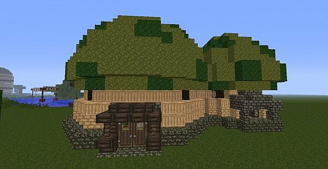 minecraft how to make a mushroom house