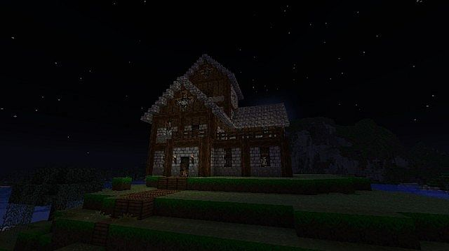two story medieval house minecraft project