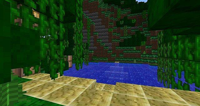 A little lake in a Jungle Biome