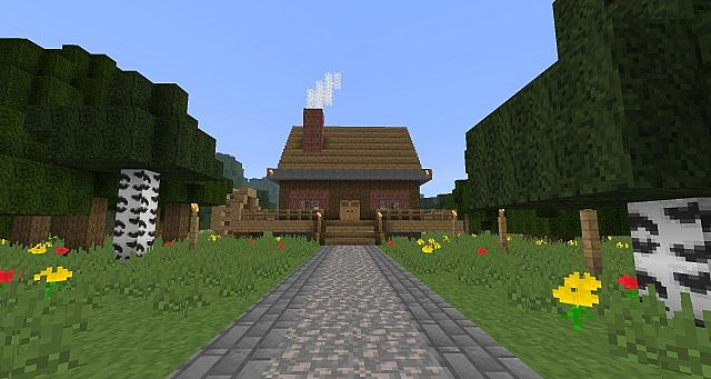 A nice cottage home! Showing the texture pack!
