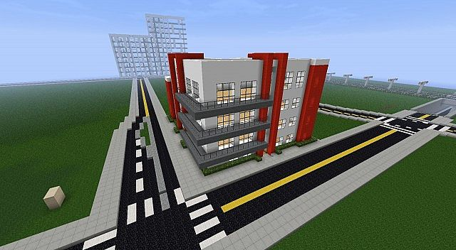 Modern Apartment Building On Mattupolis Minecraft Project