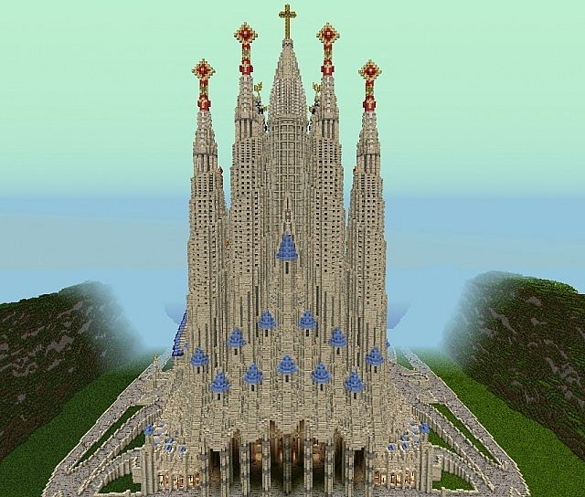 cathedral  sagrada familia by swabian minecraft project