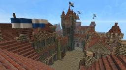 Old fortified castle town Minecraft