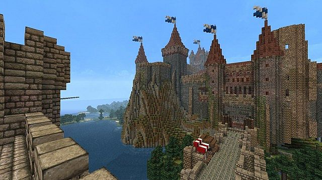 Old fortified castle town minecraft project for Minecraft exterior wall design