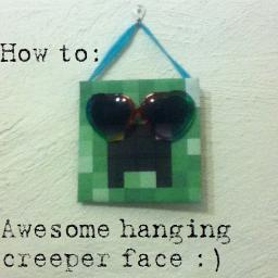 How to: an awesome hanging Creeper Face :D Minecraft Blog