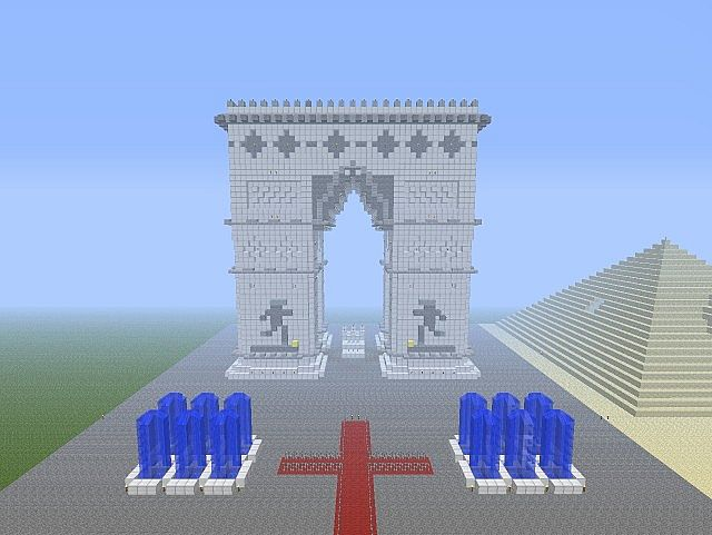 Really Cool Buildings In Minecraft Famous Buildings Arc De Triomphe