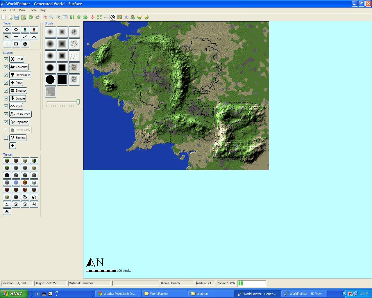 The Middle Earth DOWNLOAD Minecraft Project – 3d Map of Middle Earth