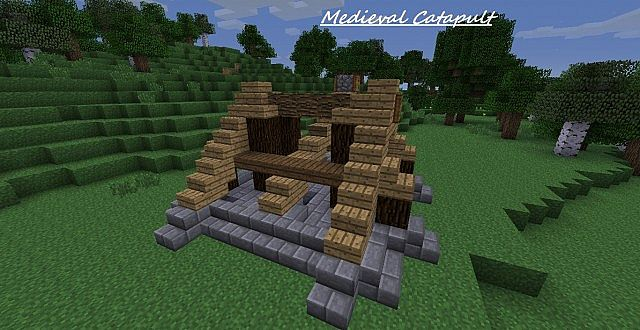 How To Build A Medieval Catapult In Minecraft