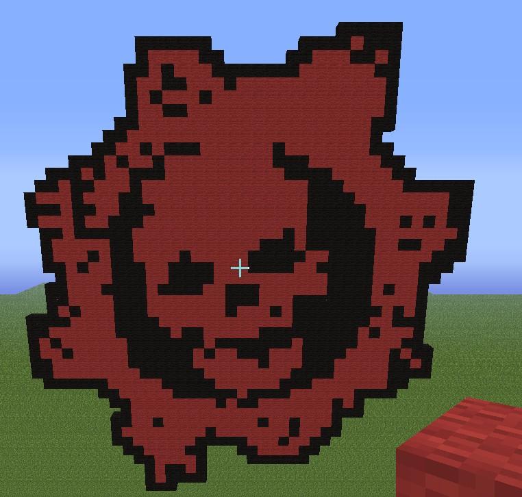 Gears Of War Logo Minecraft Project