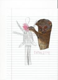 My picture of a lemur killing slender man