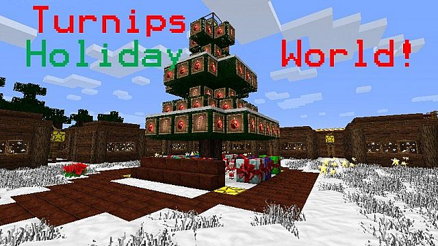 Christmas Minecraft World.Turnips Christmas World Minecraft Project
