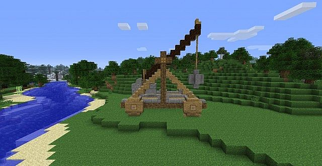 How To Build A Catapult In Minecraft