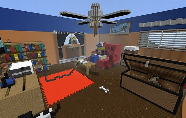 3D game room Minecraft Map