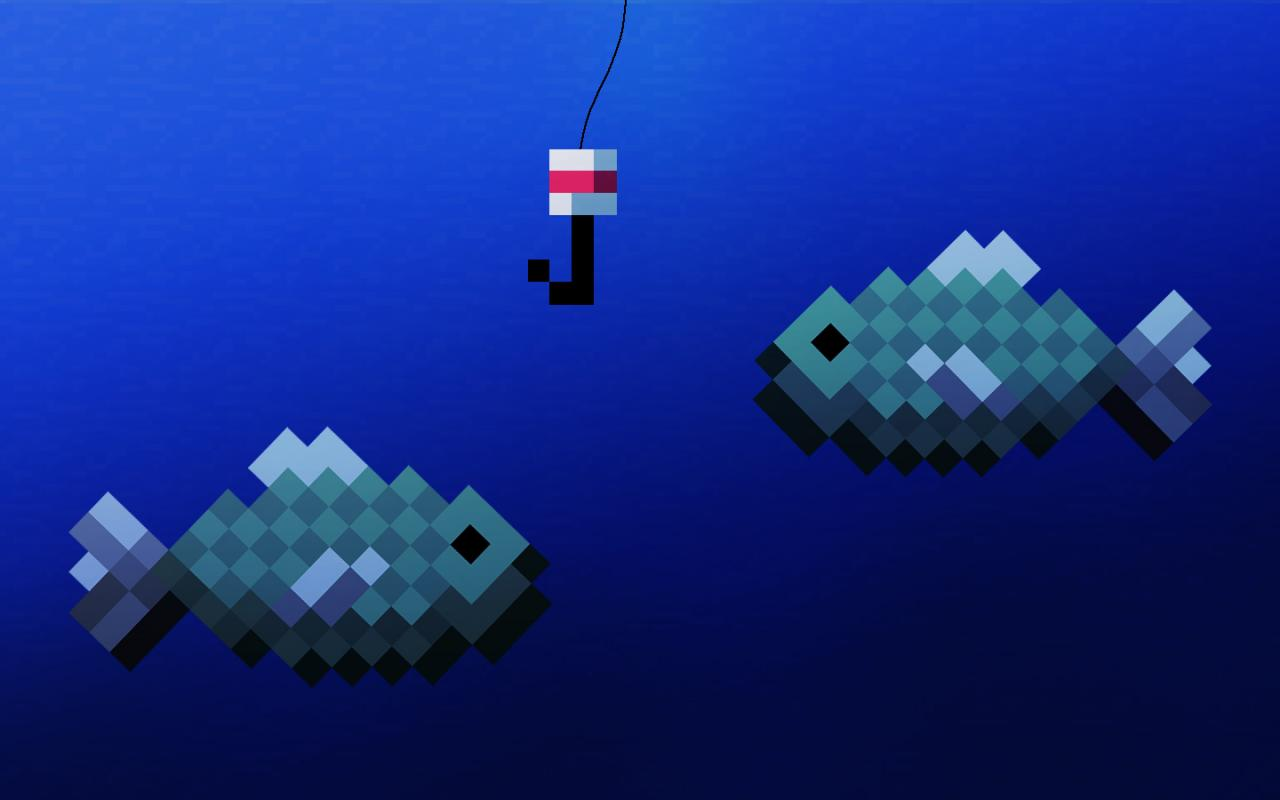 Image gallery minecraft fish for How to fish in minecraft pe