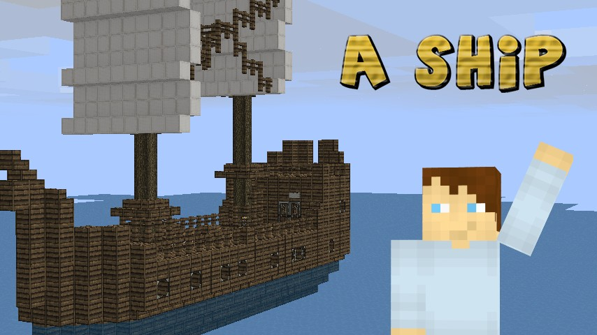 how to build a small pirate ship in minecraft