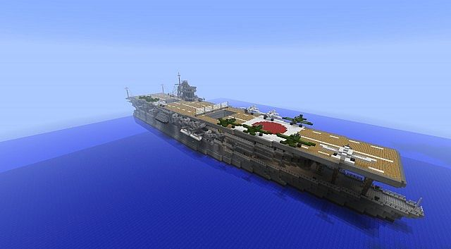 Aircraft Carrier Ijn Akagi Minecraft Project