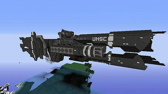 HALO UNSC Frigate Savannah Minecraft Project