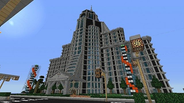 how to build a skyscraper in minecraft step by step