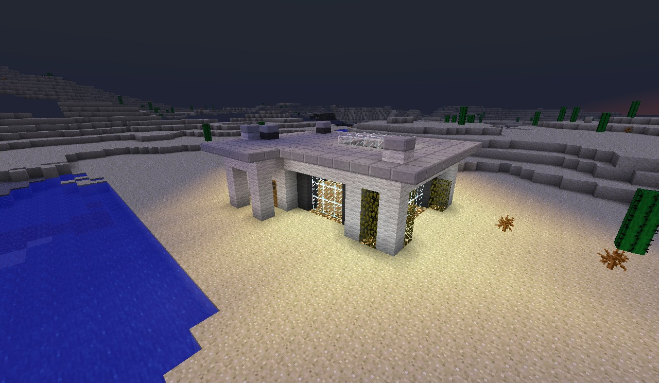 simple modern house suprise minecraft project
