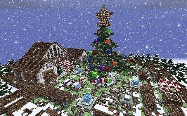 Minecraft Christmas Map.Christmas Time Minecraft Project