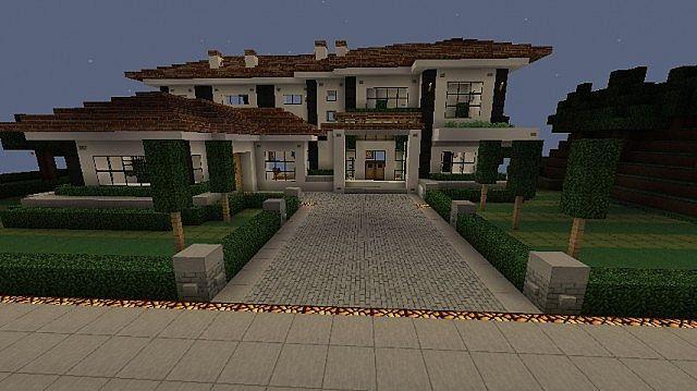 White Mansion House World Schematic Minecraft Project